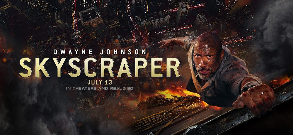 The World's Tallest Building is Ablaze in the New Trailer for 'Skyscraper,' Starring Dwayne Johnson and Neve Campbell